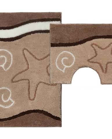 Sada koberečků Ocean cappuccino 85x55cm a 55x45cm