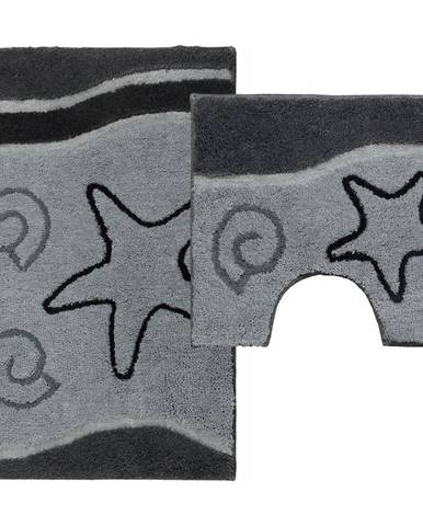Sada koberečků Ocean šedá 85x55cm a 55x45cm