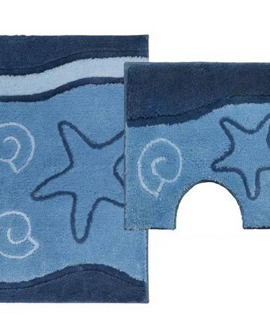 Sada koberečků Ocean tmavy modry 85x55cm a 55x45cm