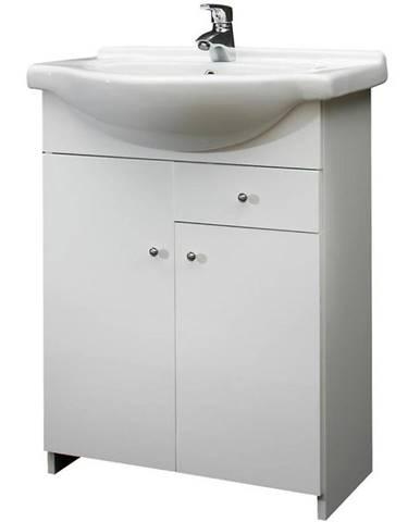 Skříňka s umyvadlem bílá Mercado 2D1S 65
