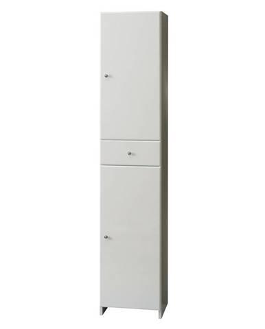 Vysoká skříňka bílá Mercado 2D1S 35