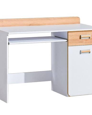 Psací Stůl  Lorento 120cm Dub Nash/Bílá