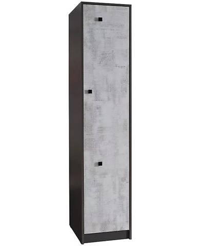 Regál Tommy 50 cm Grafit/Enigma