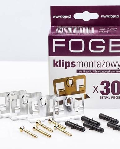 Spony pro panely Foge + kolíčky 30ks