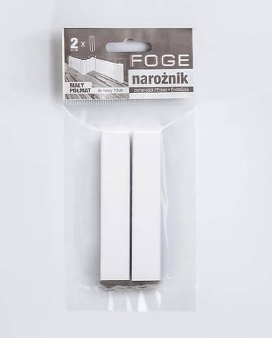 Univerzální roh Foge 100 bílá polomatná 2ks