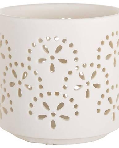Porcelánová Svíčka T-light květina bílá