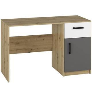 Psací Stůl Fini 120cm Dub Artisan/Bílá/Antracit