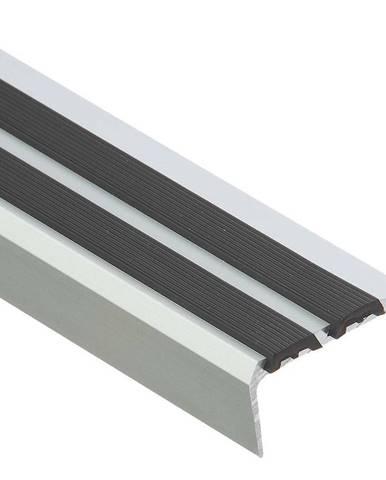 Schodový profil s gumou LSS ZG 1,0 C0 stříbrny