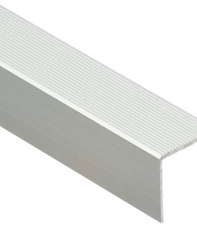 Schodový profil drážkovaný 30R 1,0 C0 stříbrný