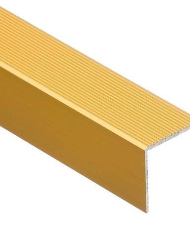 Schodový profil drážkovaný 30R 1,0 C23 zlatý