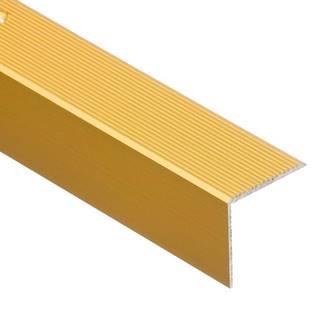 Schodový profil drážkovaný 30R 1,8 C23 zlatý