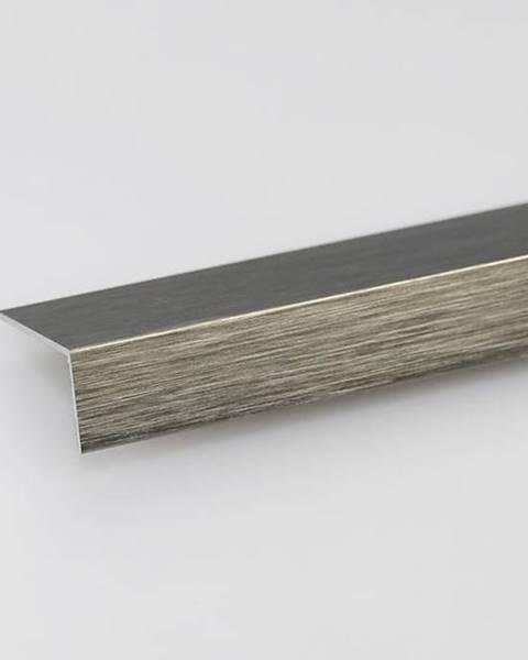 PARQUET MERCADO Rohový Profil ALU Kartáčovaný Titan 15x15x1000