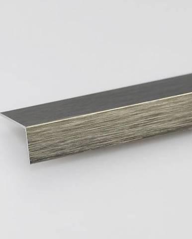 Rohový Profil ALU Kartáčovaný Titan 10x10x1000