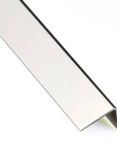 Rohový Profil Samolepící PVC Chrom 19,5x19,5x2600