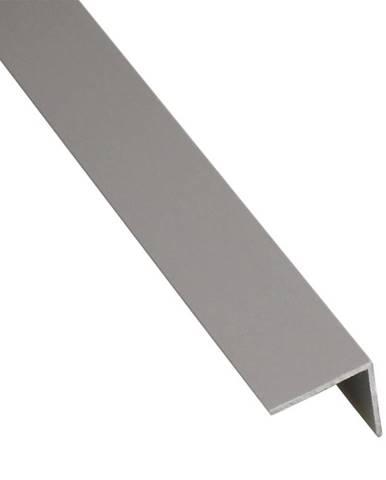 Rohový Profil Samolepící PVC Stříbrný Mat 19,5x19,5x2600