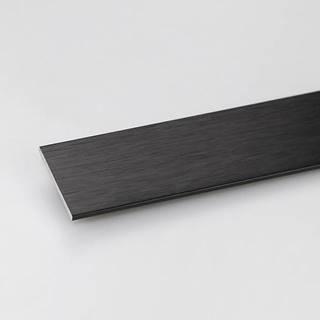 Profil plohý hliník černý 30x2x1000