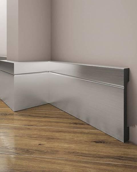 CREATIVA BY CEZAR Podlahová lišta Elegance LPC-20-148 stříbrný kartáčovaný