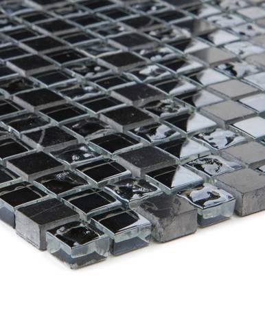 Mozaika  marmor schwarz/glassmix schwarz 47833 30,5x30,5x0,8