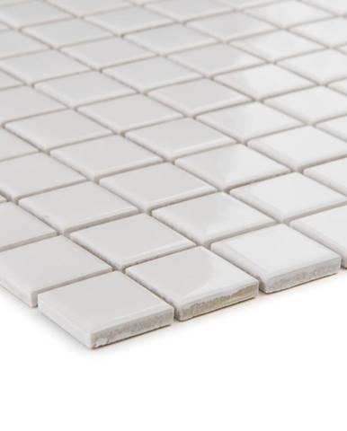 Mozaika weiss uni - lesklá 41169 33x33x0,4