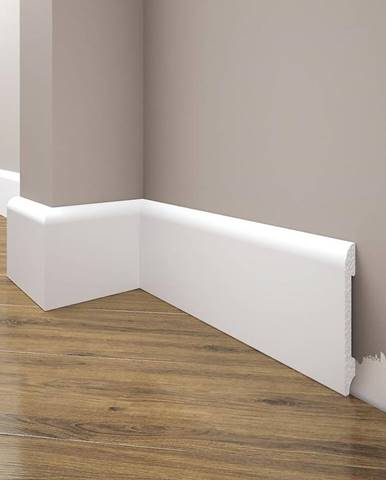 Podlahová lišta Elegance LPC-11-T101 bílá satén
