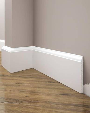 Podlahová lišta Elegance LPC-15-T101 bílá satén