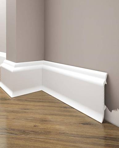 Podlahová lišta Elegance LPC-16-101 bílá mat