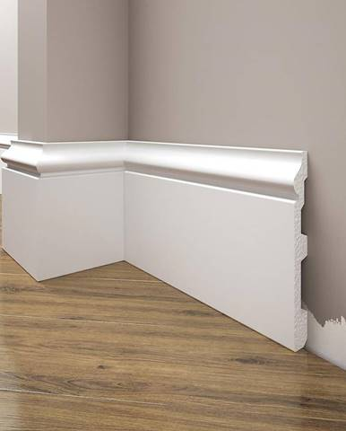 Podlahová lišta Elegance LPC-22-101 bílá mat
