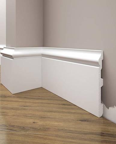 Podlahová lišta Elegance LPC-22-T101 bílá satén