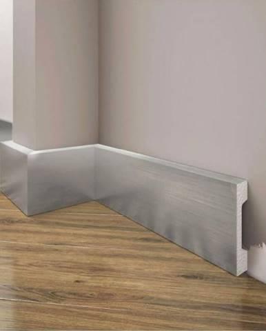 Podlahová lišta Elegance LPC-23-148 stříbrný kartáčovaný