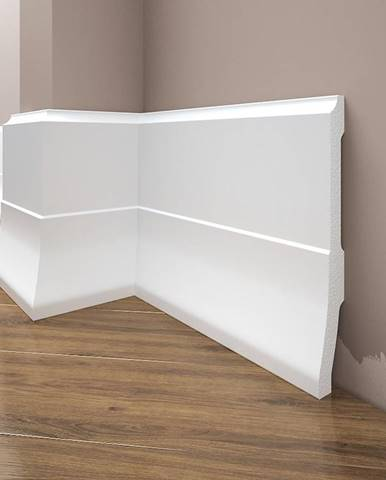 Podlahová lišta Elegance LPC-35-101 bílá mat