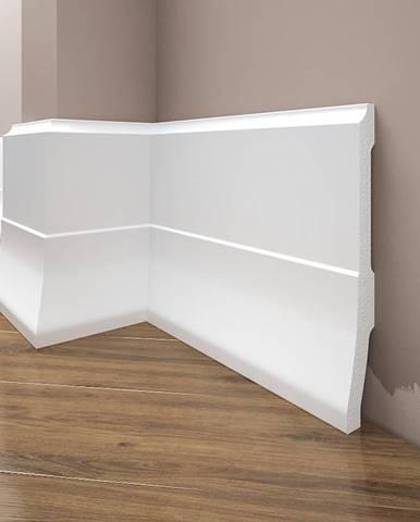 Podlahová lišta Elegance LPC-35-T101 bílá satén