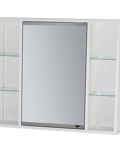 Závěsná skříňka se zrcadlem bílá Maja 70