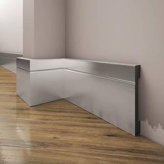 Podlahová lišta Elegance LPC-20-148 stříbrný kartáčovaný