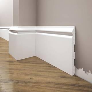 Podlahová lišta Elegance LPC-24-T101 bílá satén