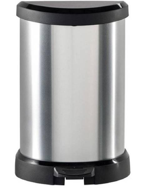 BAUMAX Odpadkový koš s pedálem Deco Bin 20l 169795 čer./Stříbr