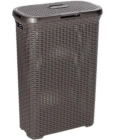 Prádelní koš Style 40L 193009 tm. hnědý Curver
