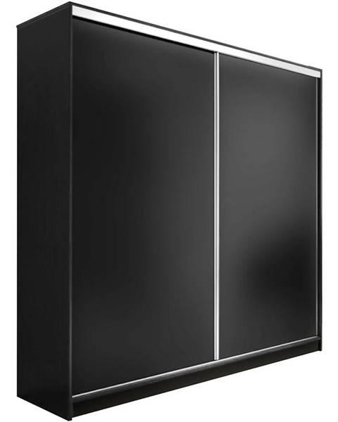 BAUMAX Skříň Edyta 200 cm Černá