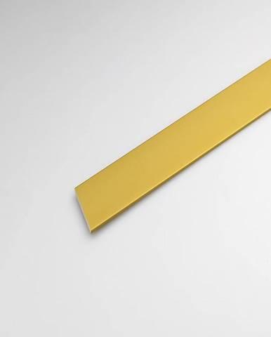 Profil plohý hliník zlatý 15x1000