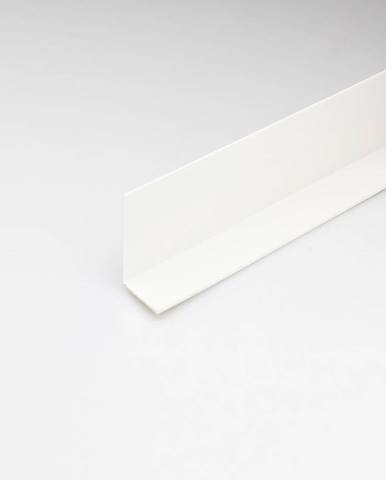 Rohový Profil PVC Bílý Satén 10x10x2000
