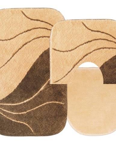 Sada koberečků Fala 85x55cm, 55x45cm a 45x40cm