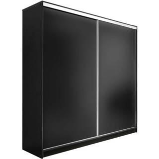 Skříň Edyta 200 cm Černá