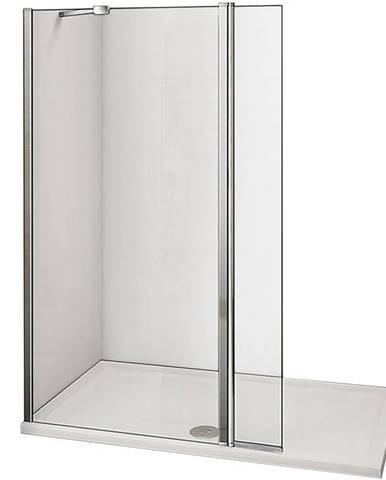 Stěna WALK-IN Dafne (60+30)x195 čirě - chrom
