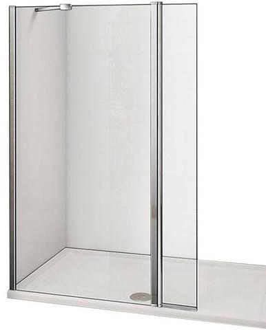 Stěna WALK-IN Dafne (90+30) x195 čirě - chrom