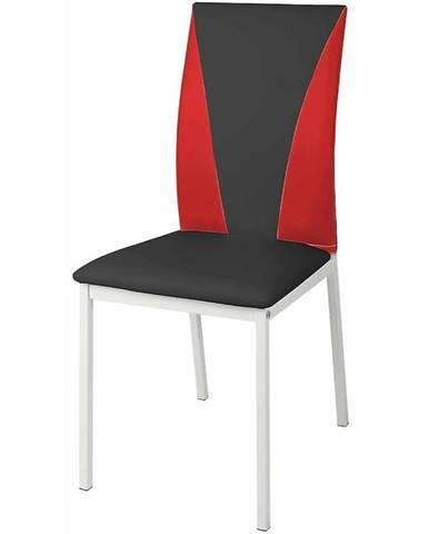 Židle Sofia Ekokůže Černá/Červené