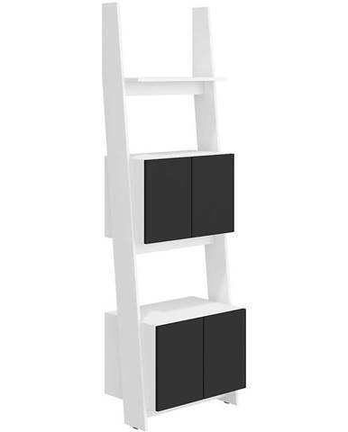 Regál Rack 60cm 2D Bílá/Černá