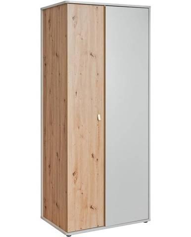 Skříň Vivero 84cm Grey/Artisan