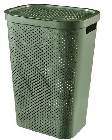 Prádelní koš Infinity recycled 245809 zelená 60l