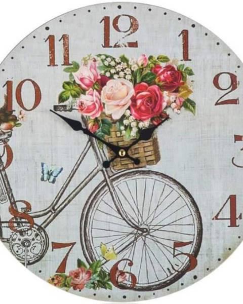 BAUMAX Hodiny nástenné Bicycle 34cm