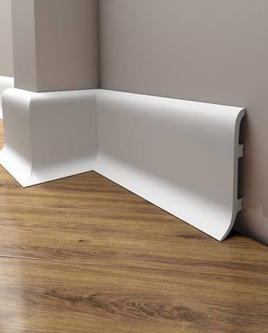 Podlahová lišta Elegance LPC-40-101 bílá mat