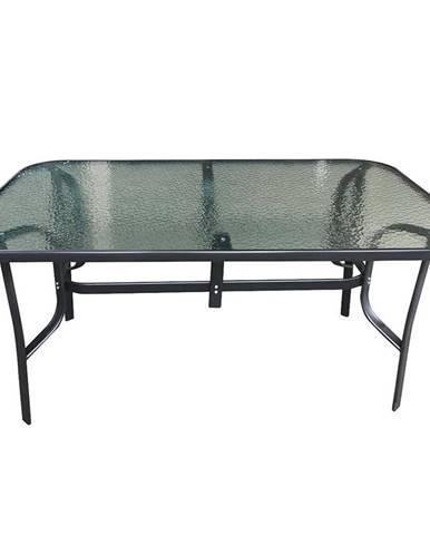 Skleněný stůl 150x90x70 cm černá